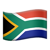 Flag: South Africa on Apple iOS 9.1
