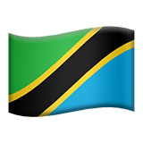 Flag: Tanzania on Apple iOS 9.1