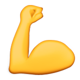 Flexed Biceps on Apple iOS 9.1