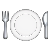 Fork and Knife with Plate on Apple iOS 9.1