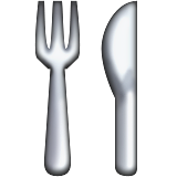 Fork and Knife on Apple iOS 9.1