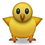Front-Facing Baby Chick on Apple iOS 9.1