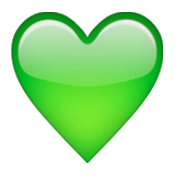 Green Heart on Apple iOS 9.1