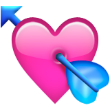 Heart With Arrow on Apple iOS 9.1