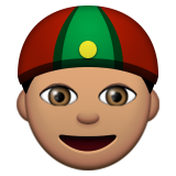 Person With Skullcap: Medium Skin Tone on Apple iOS 9.1