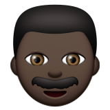Man: Dark Skin Tone on Apple iOS 9.1