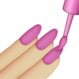Nail Polish: Medium-Light Skin Tone on Apple iOS 9.1