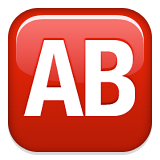 AB Button (Blood Type) on Apple iOS 9.1
