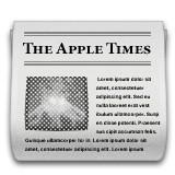 Newspaper on Apple iOS 9.1