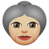 Old Woman: Medium-Light Skin Tone on Apple iOS 9.1