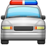Oncoming Police Car on Apple iOS 9.1