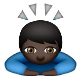 Person Bowing: Dark Skin Tone on Apple iOS 9.1