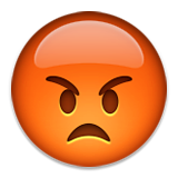 Pouting Face on Apple iOS 9.1