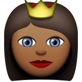 Princess: Medium-Dark Skin Tone on Apple iOS 9.1