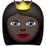 Princess: Dark Skin Tone on Apple iOS 9.1