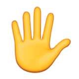 Hand with Fingers Splayed on Apple iOS 9.1