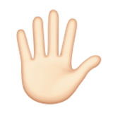 Hand with Fingers Splayed: Light Skin Tone on Apple iOS 9.1