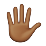 Hand with Fingers Splayed: Medium-Dark Skin Tone on Apple iOS 9.1