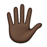 Hand With Fingers Splayed: Dark Skin Tone on Apple iOS 9.1