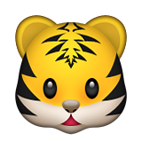 Tiger Face on Apple iOS 9.1