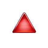 Red Triangle Pointed Up on Apple iOS 9.1