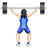 Person Lifting Weights: Light Skin Tone on Apple iOS 9.1
