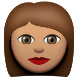 Woman: Medium Skin Tone on Apple iOS 9.1