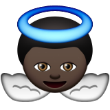 Baby Angel: Dark Skin Tone on Apple iOS 9.3