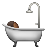 Person Taking Bath: Medium-Dark Skin Tone on Apple iOS 9.3