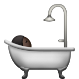 Person Taking Bath: Dark Skin Tone on Apple iOS 9.3