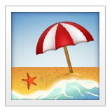 Beach With Umbrella on Apple iOS 9.3