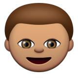 Boy: Medium Skin Tone on Apple iOS 9.3
