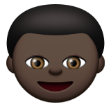 Boy: Dark Skin Tone on Apple iOS 9.3