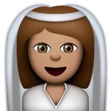 Bride With Veil: Medium Skin Tone on Apple iOS 9.3