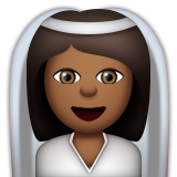 Bride With Veil: Medium-Dark Skin Tone on Apple iOS 9.3