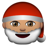 Santa Claus: Medium Skin Tone on Apple iOS 9.3