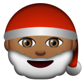 Santa Claus: Medium-Dark Skin Tone on Apple iOS 9.3