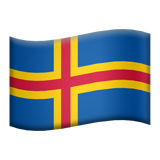 Flag: Åland Islands on Apple iOS 9.3