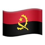 Flag: Angola on Apple iOS 9.3