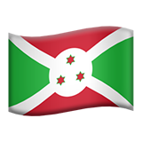 Flag: Burundi on Apple iOS 9.3