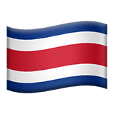 Flag: Costa Rica on Apple iOS 9.3