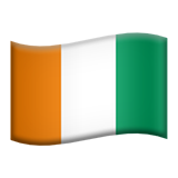 Flag: Côte d'Ivoire on Apple iOS 9.3