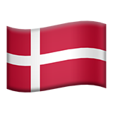 Flag: Denmark on Apple iOS 9.3