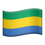 Flag: Gabon on Apple iOS 9.3