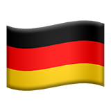 Flag: Germany on Apple iOS 9.3
