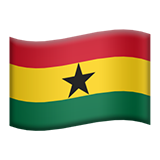 Flag: Ghana on Apple iOS 9.3