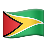 Flag: Guyana on Apple iOS 9.3