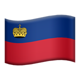 Flag: Liechtenstein on Apple iOS 9.3