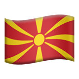 Flag: North Macedonia on Apple iOS 9.3