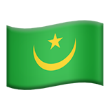Flag: Mauritania on Apple iOS 9.3